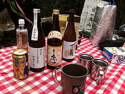 豪華日本酒が並ぶ