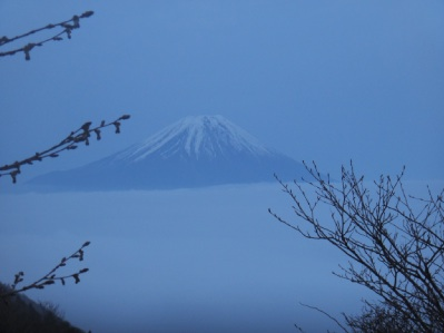 富士山の周りは全面雲海。