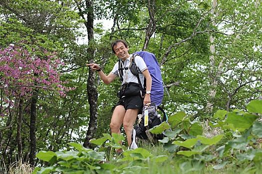 倉掛山で道を尋ねる。