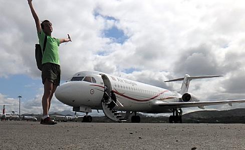 ニューギニア航空に乗る