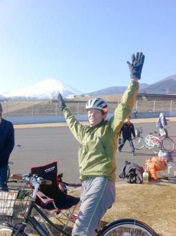 富士山とママチャリとワタシ〜♪