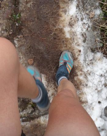 雪渓ポイントもある