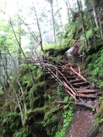 木でできた階段多し