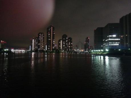 隅田川を渡る午前1時