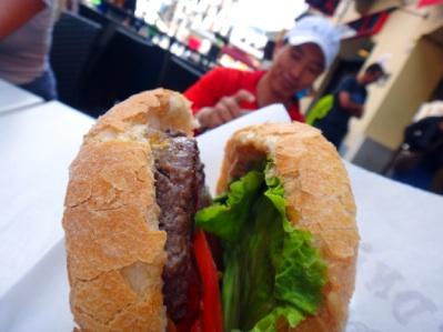 ミッドナイトエクスプレスのハンバーガー