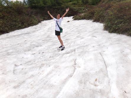 たまにゃ雪渓