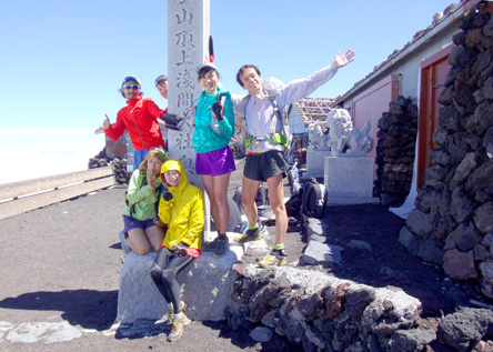 今年初の富士山頂