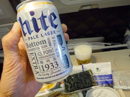 韓国のビール。ドライ並み