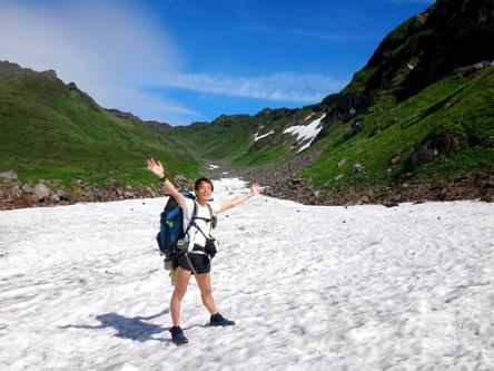 雪渓たくさん