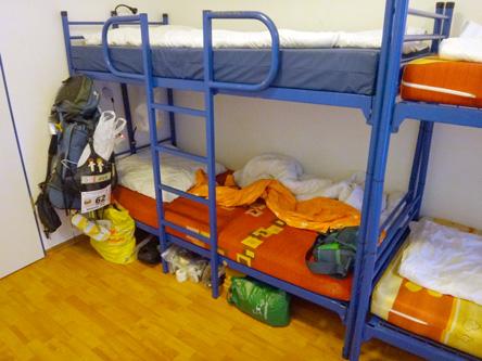 部屋は二段ベッド