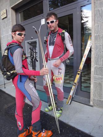 スキーを履いたまま参加