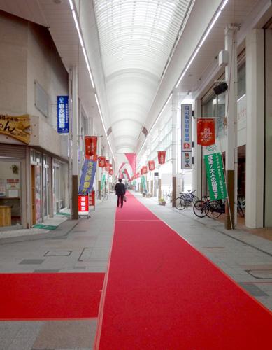 トルデジアンのゴールみたいな赤い絨毯