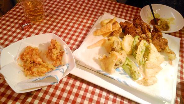 左は失敗した紅生姜の天ぷら(>_<)