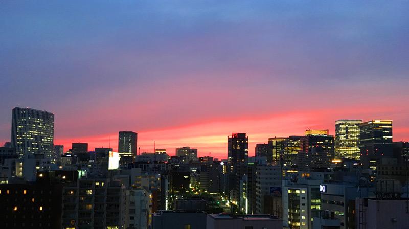 夕焼けが素晴らしー\(^o^)/
