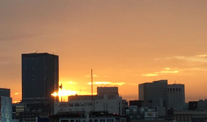 今日の夕日も良かった(^o^)