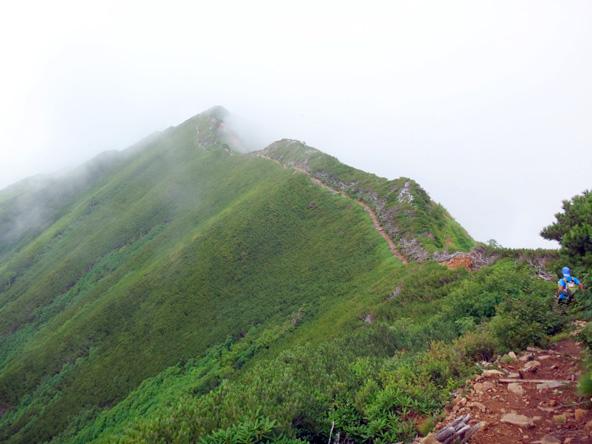 稜線の一本道