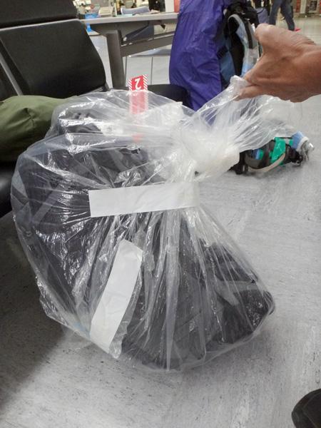 巨大ビニール袋が役に立った(^o^)