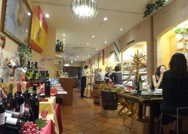 スペインの販売・食堂を銀座で発見