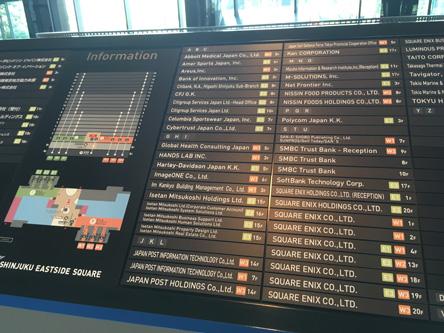 空港の掲示板みたい