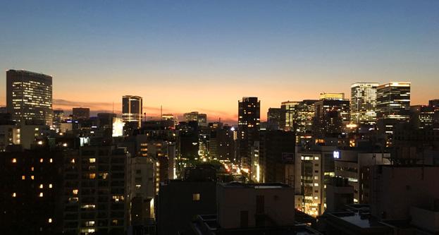 久しぶりにきれいな夕日