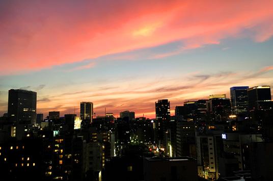 夕焼けもキレイ(^o^)