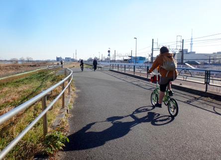 単調だけど安全なサイクリングロード