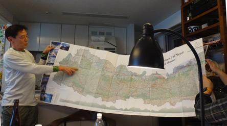 ネパールの地図も出てきた