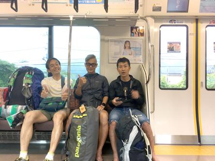 電車内で作戦会議