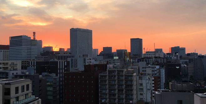 夕日が綺麗(^o^)