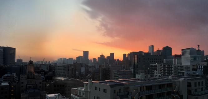 こっち側の夕日もきれい