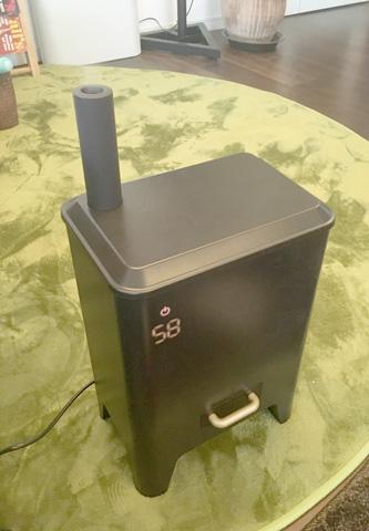 暖炉みたいな加湿器がやってきた(^o^)