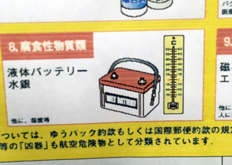 水銀を使ってない温度計が描いてあるw