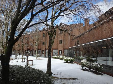 雪景色の保養所
