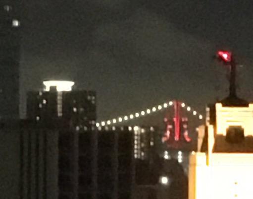 うちのベランダからやっと見えた東京アラート