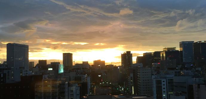 ひさしぶりにきれいな夕焼け