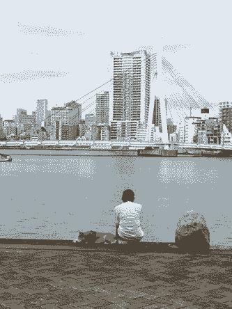 のどかな川辺
