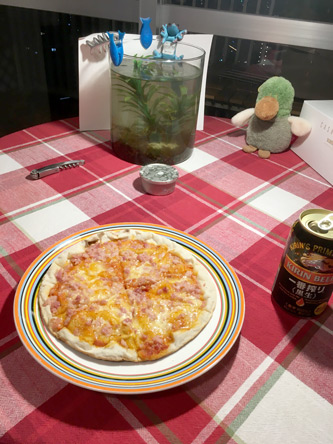 鉄板で焼くピザは失敗、また次回
